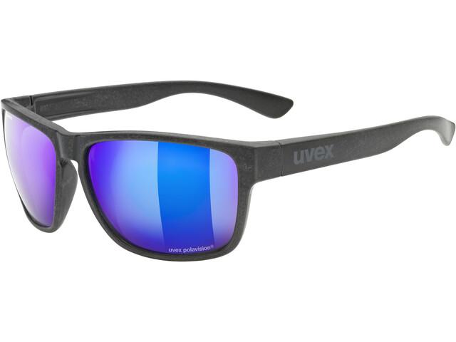 UVEX LGL Ocean Polavision Glasses black matt/mirror blue